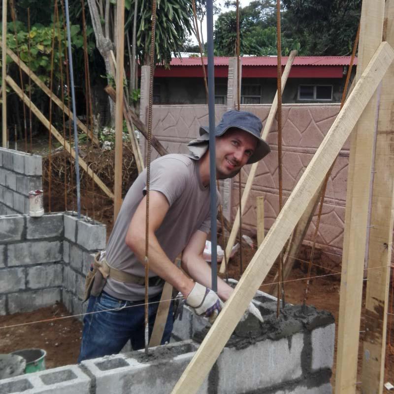volunteer in construction